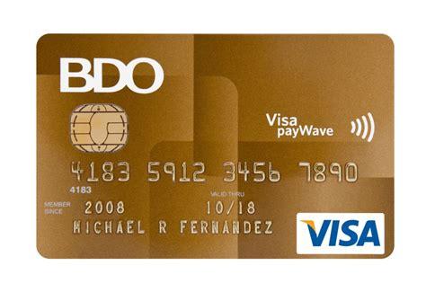 Credit Card Application Requirements Bdo Bdo Credit Cards Best Promos Deals 2018 Ecomparemo