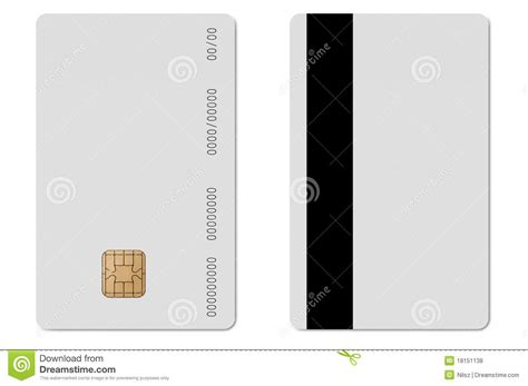 Credit Card Template Front And Back Blank Credit Card Vector Template Front Shutterstock