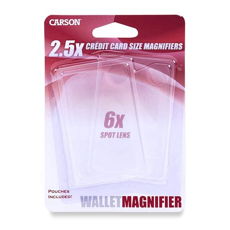Credit Card Manufacturers India Carson Twin Pack 25x Power Credit Card Size Magnifiers