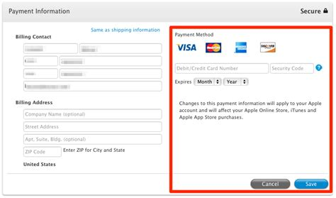 Credit Card Info Ipad Change Itunes Credit Card Information From Your Ipad