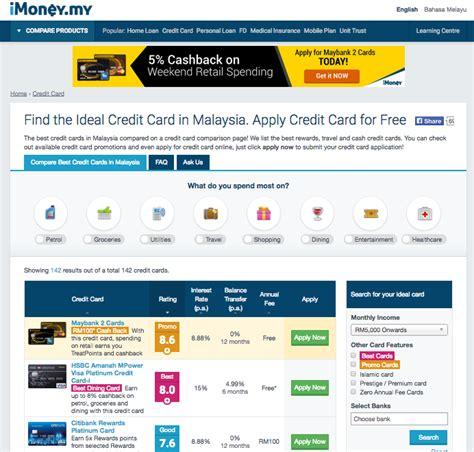 Credit Card Comparison Imoney Credit Card Imoney Imoney Malaysia