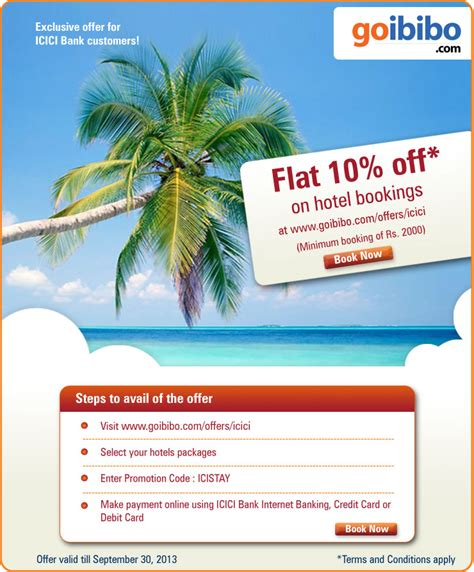Credit Card Offers Goibibo Goibibo Hotel Offers In Oct 2018 Discount Coupons Deals