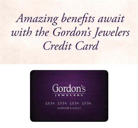 Credit Card On Promotion Gordons Jewelers Credit Card No And Low Interest Credit