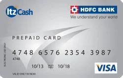 Credit Card Atm Pin Hdfc Hdfc Bank Itzcash Prepaid Card Faqs