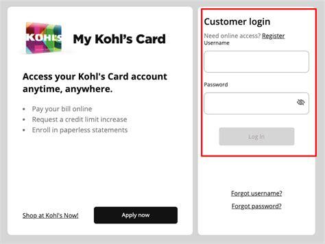 Credit Card At Kohls Httpmykohlschargelogin