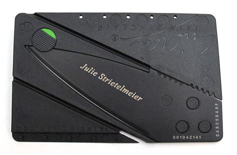 Credit Card Knife Iain Iain Sinclair Cardsharp2 Authentic Credit Card Sized