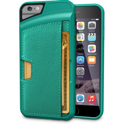 Credit Card Case With 2 Outer Ids Iphone 66s Wallet Case Card Holder Up To 8 Cards Slim