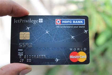 Credit Card Swipe Data Usage Jet Privilege Hdfc Bank Platinum Best In Class Airline
