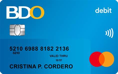 Credit Card Application Requirements Bdo Personal Loan Bdo Unibank Inc