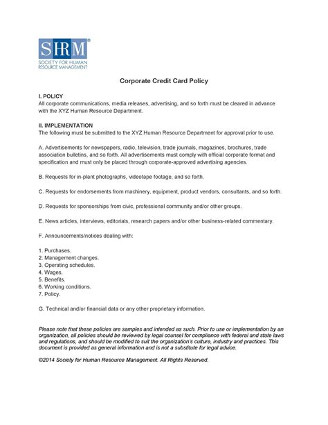 Charming Corporate Responsibility Policy Template Gallery ...