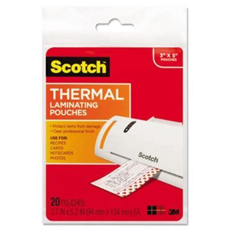 Credit Card Size Laminating Pouches Scotch Thermal Laminating Pouches 232 X 370 Inches