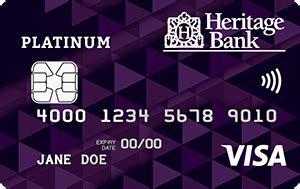 Credit Card Heritage Bank The Heritage Bank