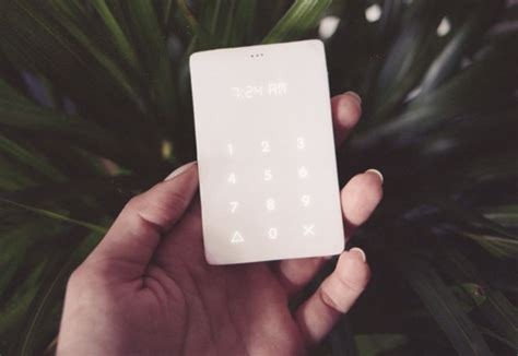 Credit Card Sized Phone The Light Phone