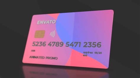 Credit Card Revealer Generator Videohive After Effects Projects Motion Graphics Stock