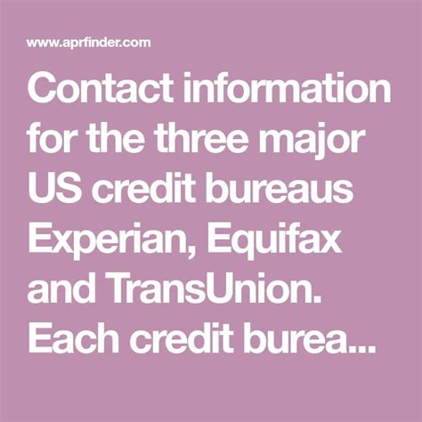Credit Companies Telephone Numbers Credit Bureau Telephone Numbers And Mailing Addresses