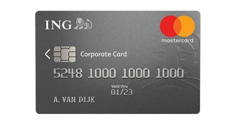 Creditcard Ing Werelddekking