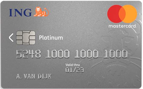 Creditcard Ing Verzekerd Verzekeringen Mastercard