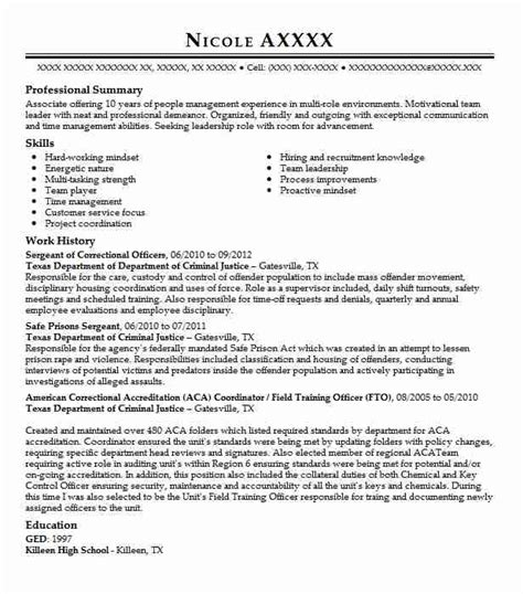criminal justice resume cover letter examples correctional officer resume cover letter - Criminal Justice Resume