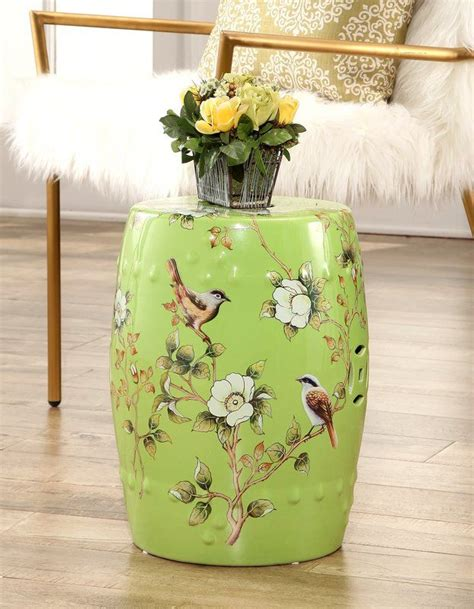 Critchlow Hand Painted Floral Garden Stool