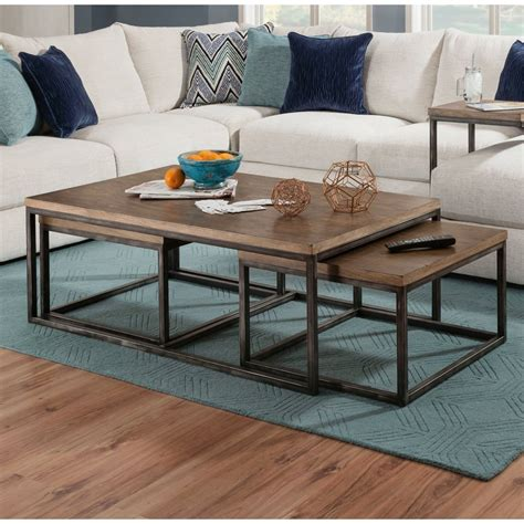 Cronk Industrial 2 Piece Coffee Table Set