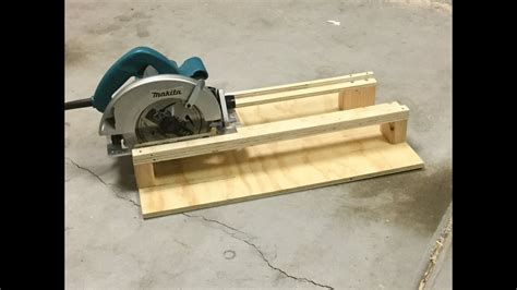 Cross Cut Jig For Circular Saw