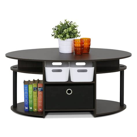 Crow Simple Design Coffee Table with Bin