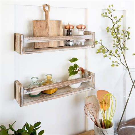 Croyle Modern Industrial Floating Wall Shelf (Set of 2)