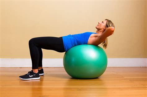 crunches on exercise ball for lower abs