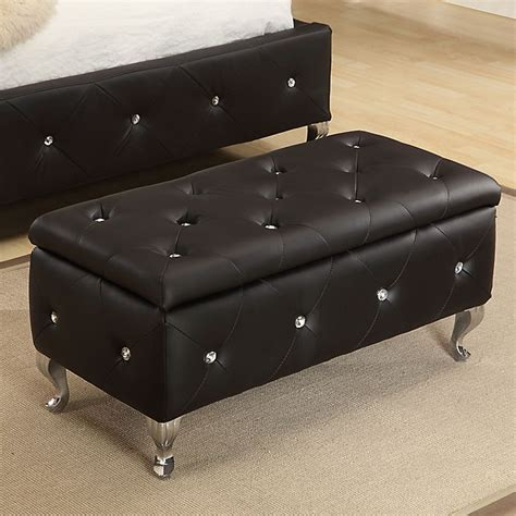 Crystal Upholstered Storage Bench