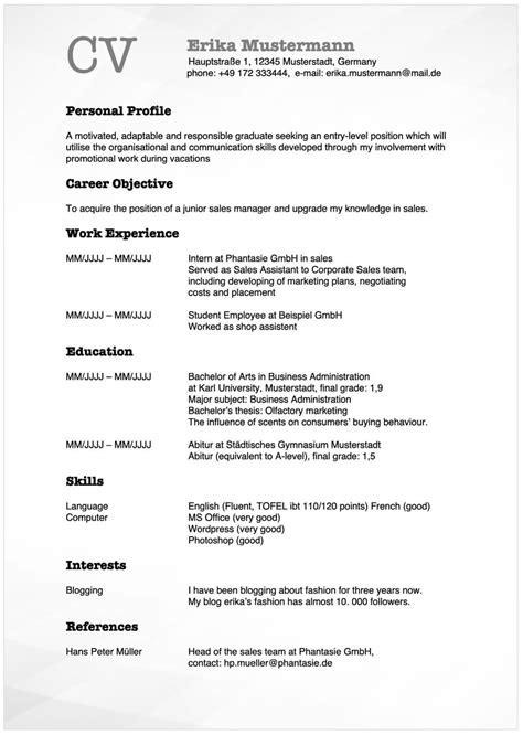 curriculum vitae english staufenbiel lebenslauf englisch bewerbung mit cv und rsum - Lebenslauf Staufenbiel