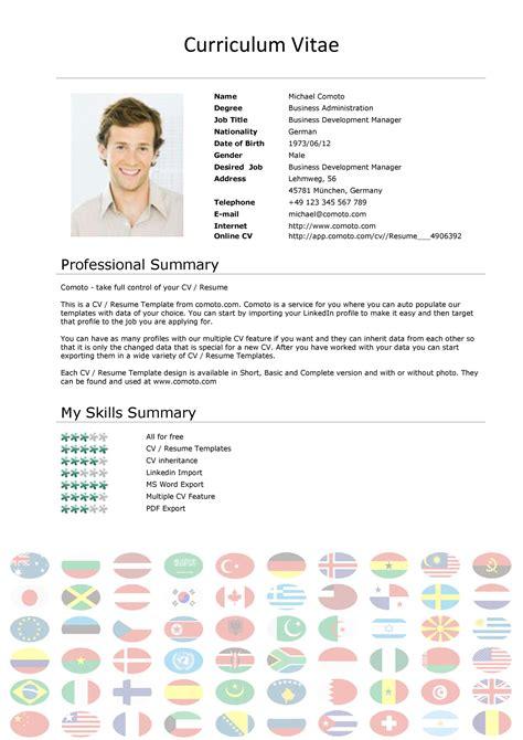 Curriculum Vitae Sample Sales Manager Curriculum Vitae Example Acesta Jobinfo