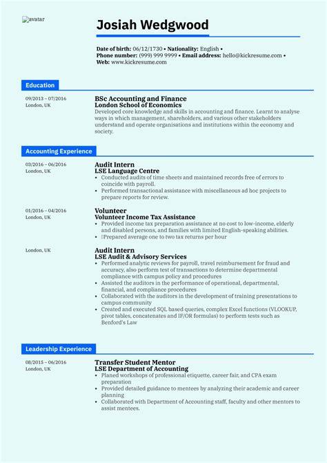 Curriculum Vitae Accounting Jobs Financial Accountant Cv Template Careeroneau