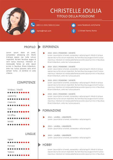 Curriculum Vitae Da Compilare Modello Curriculum Vitae Da Compilare