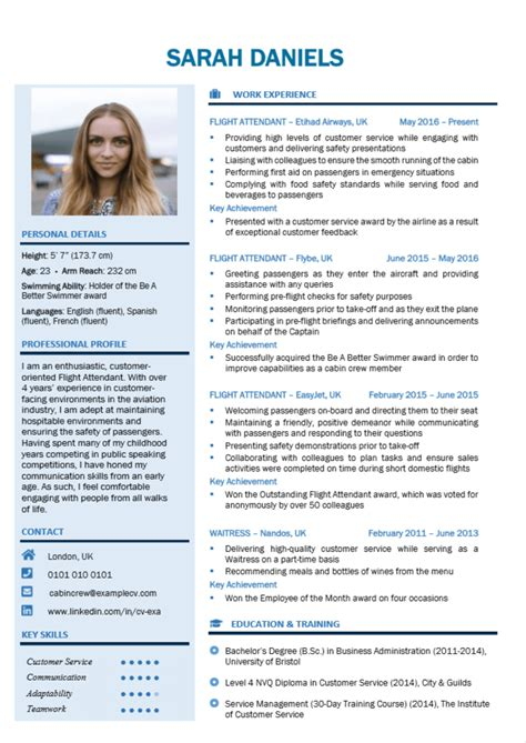Cabin crew cv template northurthwall cabin crew cv template yelopaper Images