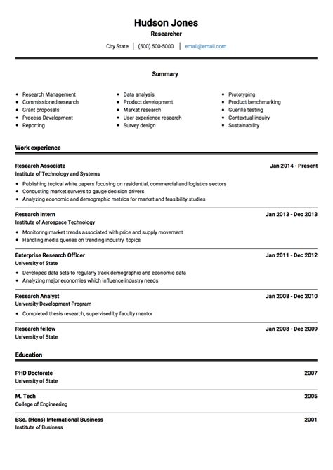 Curriculum Vitae Instructions Template For Researchers Curriculum Vitae Tenk