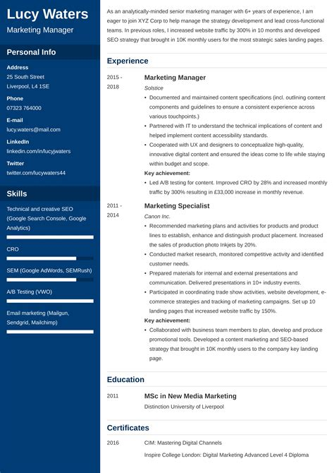 curriculum vitae writing guidelines cv sample hobbies interests