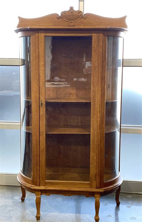 curved glass gun cabinets