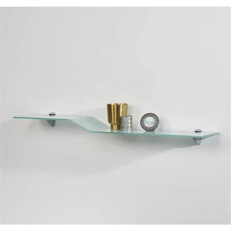 Curvo Glass Wall Shelf