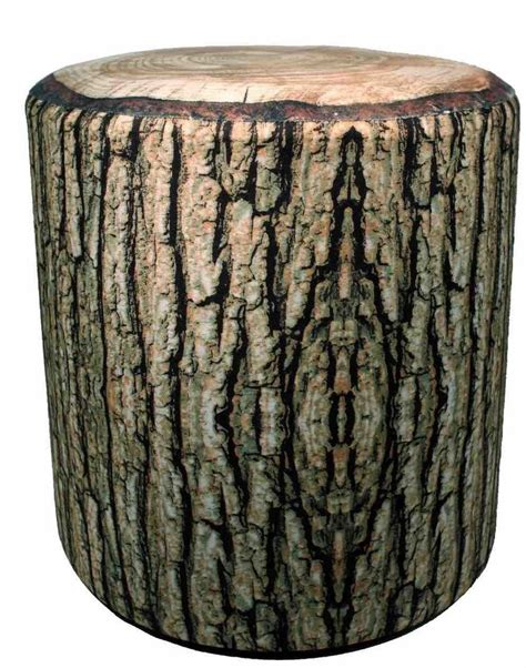 Cushioned Log Accent Stool