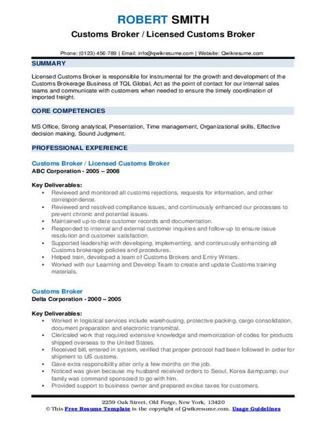 custom broker clerk resume more resume samples best sample resume - Brokerage Clerk Sample Resume