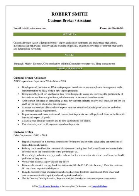 custom broker clerk resume shipping clerk cv sample shipping clerk cv formats - Brokerage Clerk Sample Resume