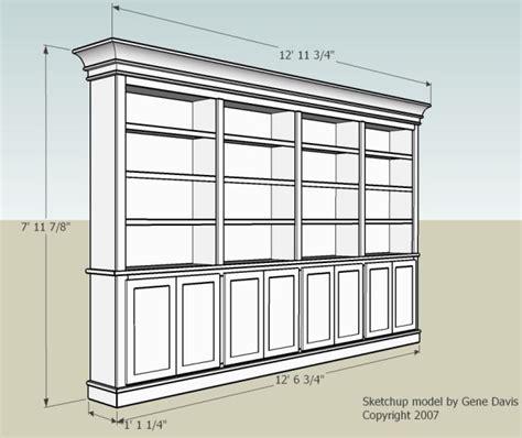 Custom Bookcase Plans