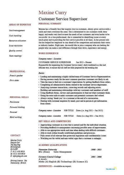 customer service supervisor resumes - Customer Service Supervisor Resume