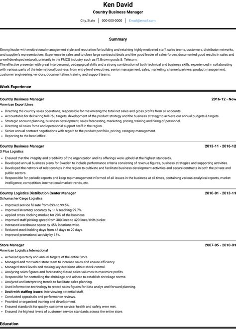 Cv Cover Letter For Commercial Manager | Curriculum Vitae ...