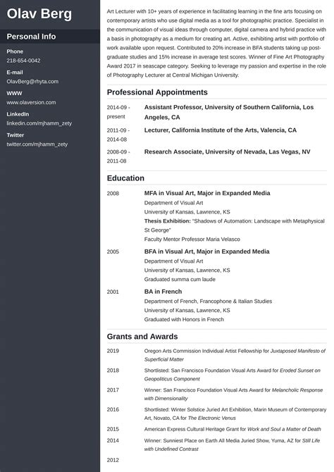 graduate cv template reed co