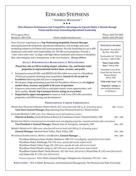 Prissy Inspiration Hotel Manager Resume   Hotel CV Template Job      Hotel Director Of Sales Resume  resumecompanion com   travel