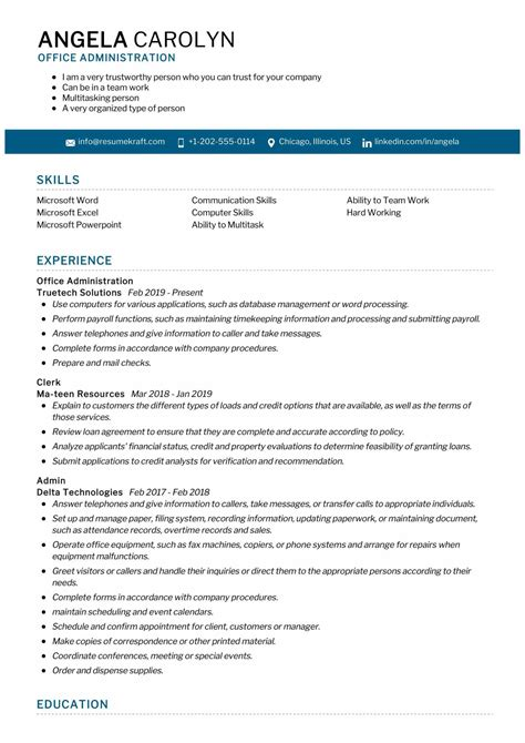 cv help admin assistant resume builder for freshers free download