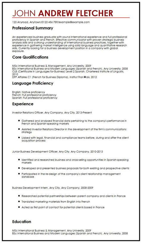 cv in english language skills language skills in cv resume samples - Language Skills Resume
