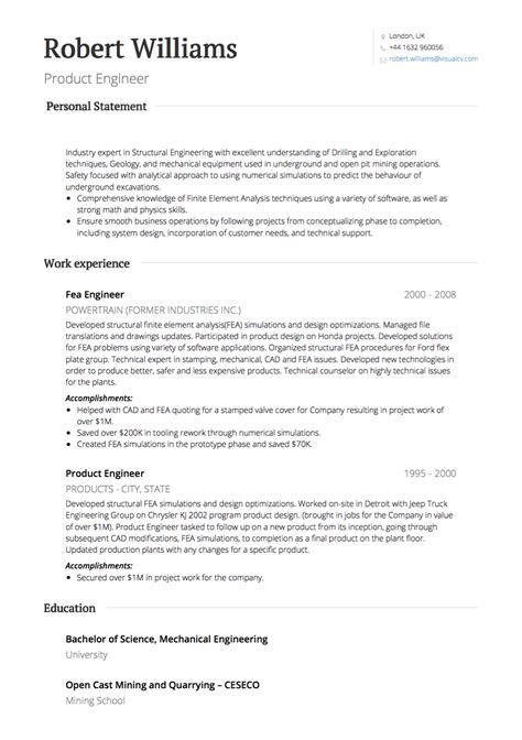 cv resume example uk example cvs prospectsacuk cvs resume example