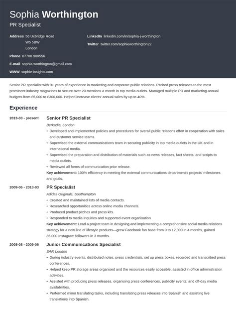 cv resume letter example write a cvcurriculum vitaeresume british style in uk